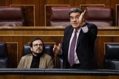 El ministro de Seguridad Social, José Luis Escrivá, el pasado mes de febrero en el Congreso de los Diputados