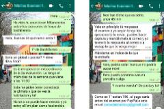Conversación de WhatsApp con un 'proveedor' de trampas en exámenes