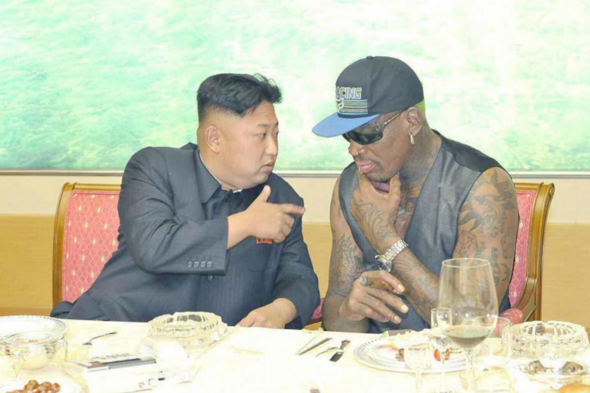 Kin Jong-un, durante un encuentro con Rodman.
