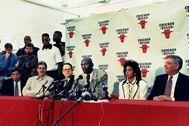 Michael Jordan, el día de su primera retirada.