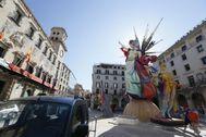 El monumento del Ayuntamiento de Alicante el año pasado.
