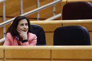 Margarita Robles, en la última sesión de control al Gobierno en el Senado.