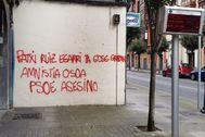 Pintada junto a la sede del PSE-EE en la localidad vizcaína de Portugalete.