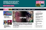 Pantallazo de la portada de la web 'La última hora'.