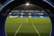 El estadio del Manchester City, el Etihad Stadium, en un partido de Champions.