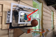 Esta canasta de baloncesto robótica encesta todos los tiros por ti