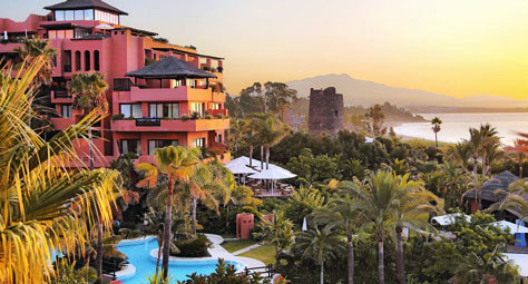 Vista del Kempinski Hotel Bahía, en la Costa del Sol.