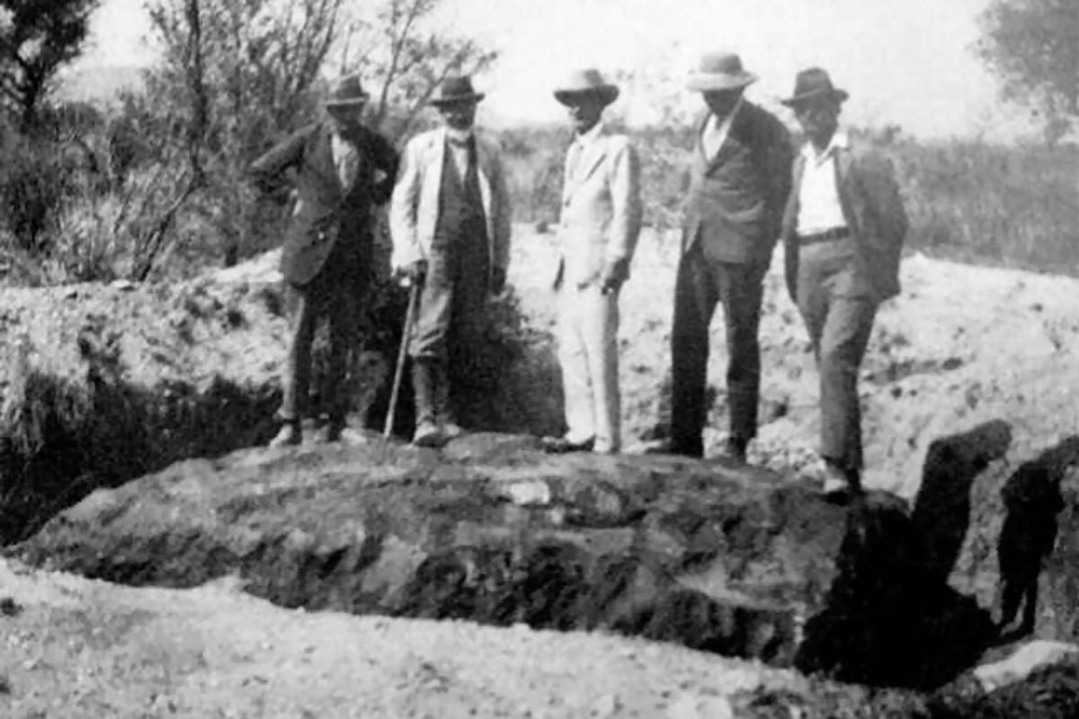 Excursión geológica al Hoba en 1929.