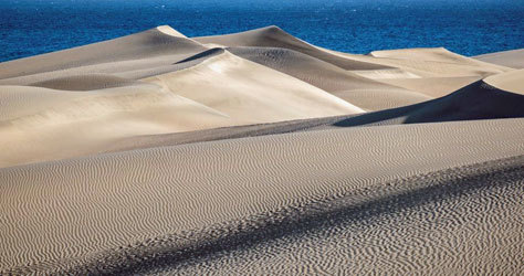 Imagen actual de las dunas de Maspalomas.