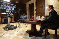 Ximo Puig durante una comparecencia con los medios.