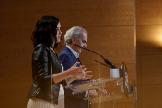 16/05/2020.- La presidenta de la Comunidad de Madrid, Isabel Diaz lt;HIT gt;Ayuso lt;/HIT gt;, durante la comparecencia conjunta con el consejero de Sanidad, Enrique Ruiz Escudero, hoy en la sede de la Comunidad de Madrid. Foto Comunidad de Madrid