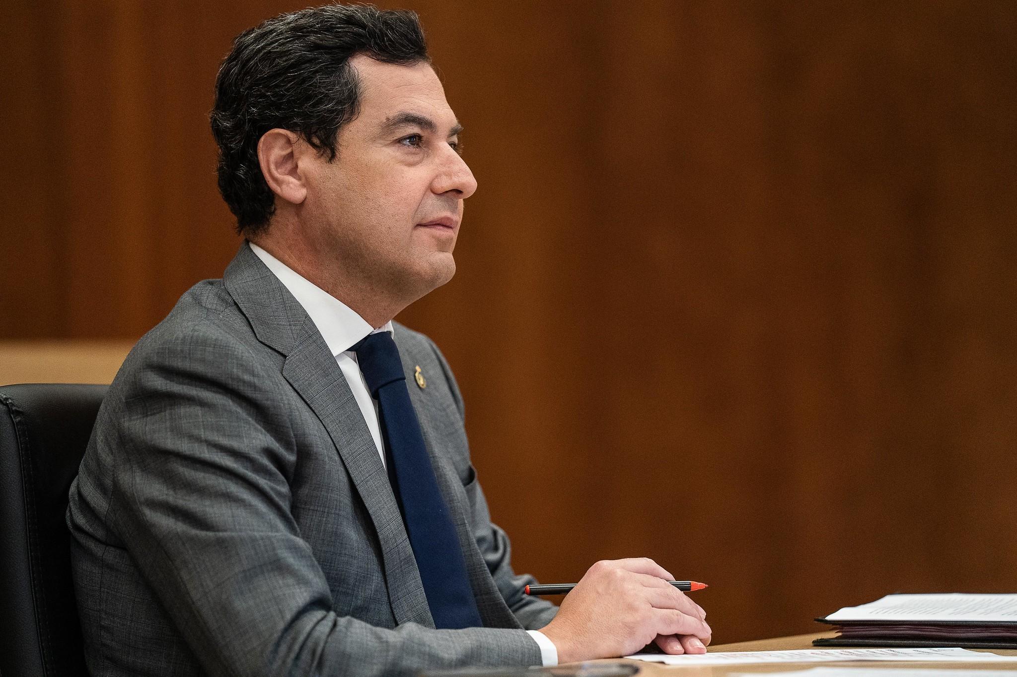 El presidente de la Junta de Andalucía.