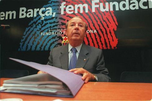 Josep Lluis Núñez, durante su presidencia del Barça.