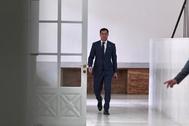 El presidente de la Junta, Juanma Moreno, este domingo en San Telmo.