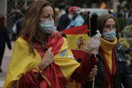 Manifestación de en el barrio de Salamanca de Madrid.