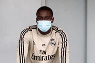 GRAF5569. MADRID.- El delantero brasileño del Real Madrid Vinicius Jr. durante el entrenamiento que ha realizado hoy jueves en lt;HIT gt;Valdebebas lt;/HIT gt;, en Madrid. Realmadrid.com***SOLO USO EDITORIAL/NO VENTAS/NO ARCHIVO***