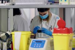 Técnicos sanitarios del Hospital Universitario Central de Asturias (HUCA).