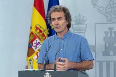 Fernando Simón durante la rueda de prensa telemática del sábado.