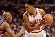 Scottie Pippen, durante su etapa en los Bulls.