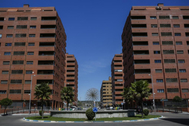 Bloque de viviendas en la localidad de Seseña.