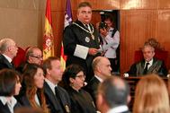 El fiscal superior de Baleares, Bartomeu Barceló, en un acto oficial.
