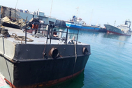 Chahbahar ( lt;HIT gt;Iran lt;/HIT gt; (islamic Republic Of)).- A handout photo made available by the Iranian Army official website shows the damaged Konarak warship at Jask lt;HIT gt;port lt;/HIT gt; after the accident during the naval exercise in the Gulf of Oman, in Chahbahar, southern lt;HIT gt;Iran lt;/HIT gt;, 11 May 2020. According to media reports, 19 people were killed in the accident as an Iranian missile fired during a training exercise in the Gulf of Oman struck a support vessel Konarak near its target. (Incendio) EPA/ HANDOUT EDITORIAL USE ONLY/NO SALES