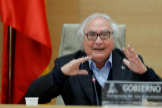Manuel Castells, en el Congreso.
