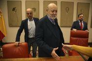 El director del CIS, José Félix Tezanos, en una comparecencia en el Congreso.
