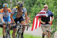 Lance Armstrong, durante una etapa del Tour.