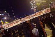 Imagen de la protesta independentista en la Meridiana