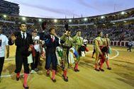 Algunas de las figuras presentes en la cumbre, en el festival homenaje a Víctor Barrio de Valladolid