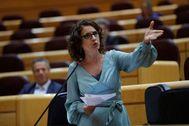 La ministra de Hacienda, María Jesús Montero, ayer en el Congreso de los Diputados.