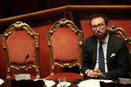 El ministro de Justicia, Alfonso Bonafede, en el Senado.