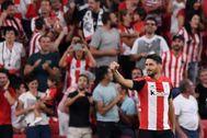 Aduriz, en un partido con el Athletic.