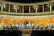 Concierto en el Palacio de Carlos V de la Alhambra, en el festival de 2014.