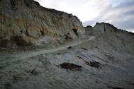 Rampa excavada en el Médano del Asperillo, dentro de los límites de Doñana.