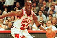 Jordan, durante un partido con los Bulls.