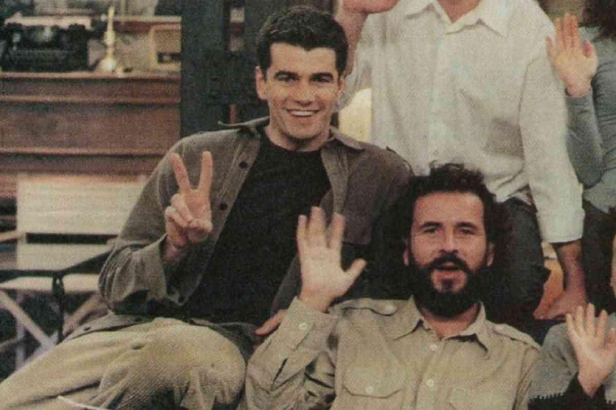 Junto a Toni Cantó, cuando ambos trabajaban en 7 Vidas.