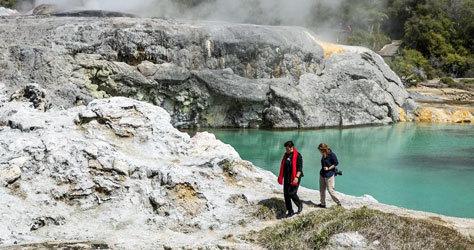 Paisaje de naturaleza salvaje en Nueva Zelanda.