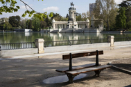 Parque del Retiro, vacío tras su cierre al público