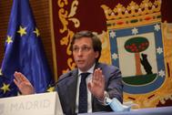 El alcalde de Madrid, José Luis Martínez-Almeida, en la Junta de Gobierno