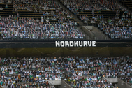 Imagen de la curva norte del Borussia Park.