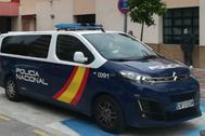 Un coche de la Policía Nacional en Málaga.