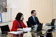 La presidenta Díaz Ayuso y el consejero de Hacienda, Fernández-Lasquetty.