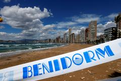 La playa de Levante en Benidorm.
