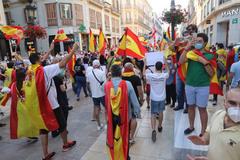 Concentraciones contra el Gobierno en Málaga.