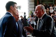 El Rey Juan Carlos y Pedro Sánchez, en 2019.