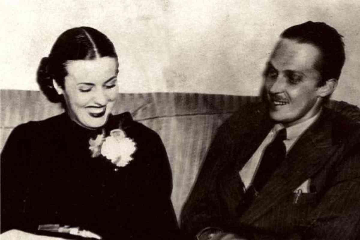 Con su segunda esposa, Marta Esther Rocafort.