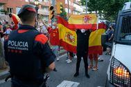Protestas contra el Gobierno esta semana en Barcelona