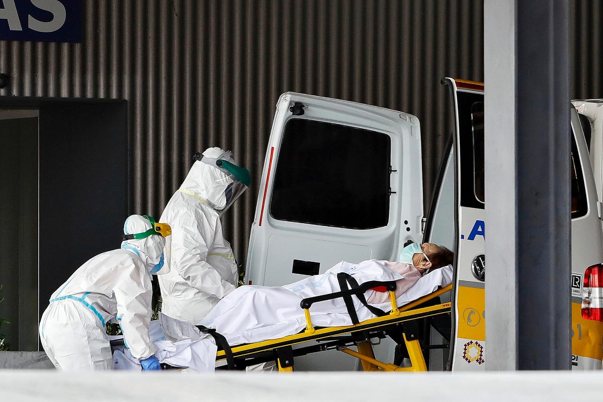 Paciente de coronavirus en el Hospital Clínico de Valladolid.
